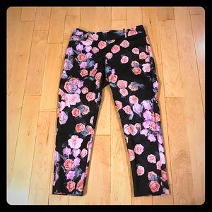 Eloquii black pink rose Kady pants size 14